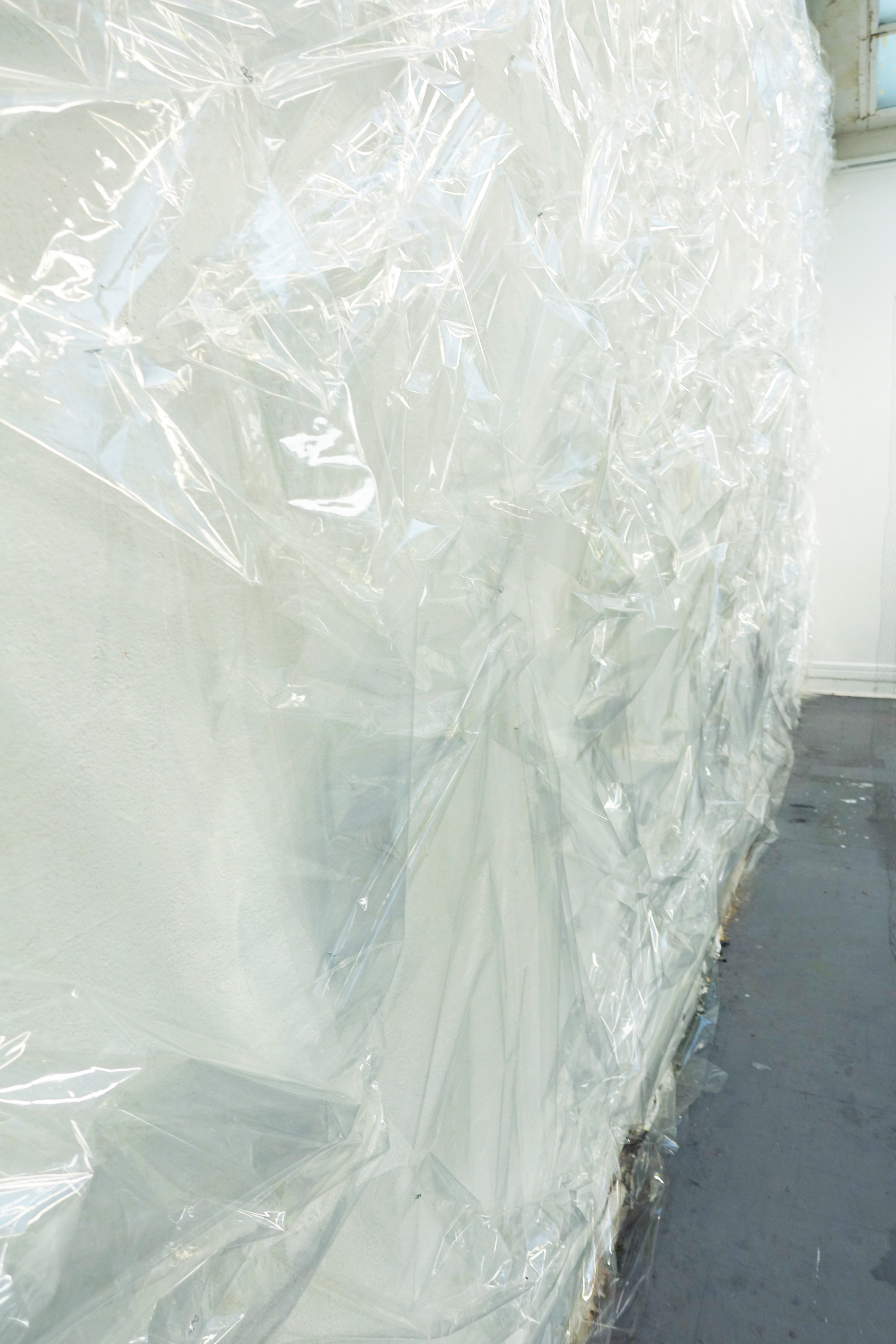 Giuseppina Giordano, untitled, 2018 plastic wrap / environmental dimensions